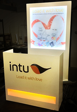 An intu sign featuring their logo and strap-line