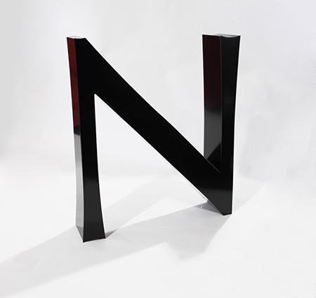 A built-up letter N